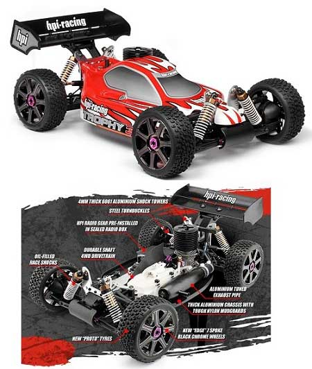 HP10508 HPI Racing Automodello Off Road Ligthning Trophy Buggy 3.5cc RTR