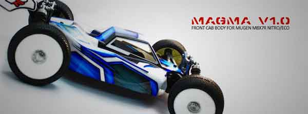 MGM0004 MAX Airbrush MAGMA Front Cab Body Mugen MBX-7/R Nitro/Brushless