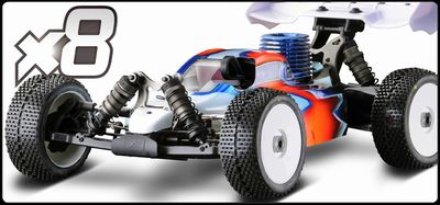 ANS112000006 Ansmann Racing - X8 Automodello Buggy 1:8 da Competizione in Kit