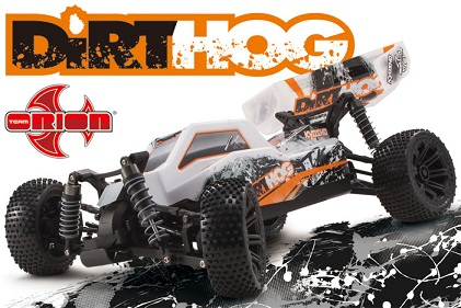30993T1 Kyosho  EP Fazer Dirthog Readyset with T1 Orange 4WD 1:10 KT-200 Transmitter
