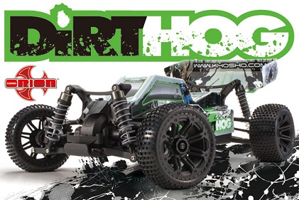 30993T2 Kyosho  EP Fazer Dirthog Readyset with T2 Green 4WD 1:10 KT-200 Transmitter