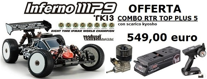 K31888TOP Kyosho INFERNO MP9 TKI3 2,4 GHz RTR TOP PLUS 5