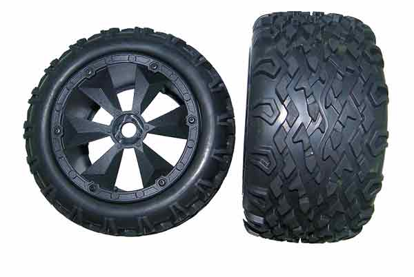 BS810-001 BSD Racing Tire Unit Monster Truck (2) BSD RACING