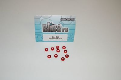 BLI044-R Bliss Rondelle Coniche 3mm Rosse (8)