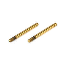 LOSB1938 Team Losi Front Shock Shaft Set, TiNi (2): Mini 8IGHT