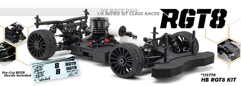 HB115770 HB RACING RGT8 GT ON-ROAD RACE KIT 1:8 BLACK FRIDAY