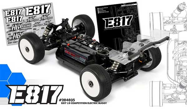 HB204035 HOT BODIES RACING E817 1/8 COMPETITION ELECTRIC BUGGY
