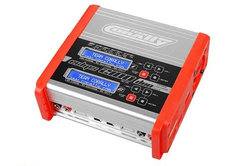 COR48489 Team Corally - Eclips 2100 Duo Charger, AC/DC, 100W, Lcd Screen, (2X) 1-6 Li-Xx, 1-15 Ni-Xx