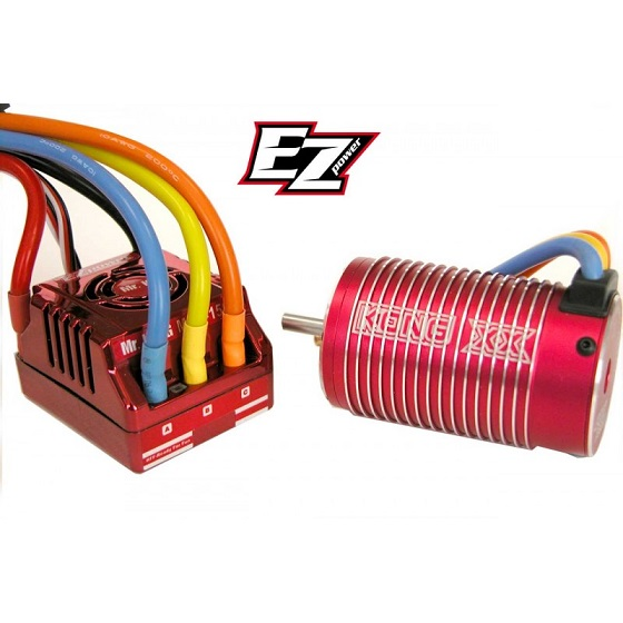 EZBR2000 EZPower SISTEMA BRUSHLESS MR.KONG II 4 POLI 1900 KV PER BUGGY - TRUGGY 1:8 OFF-ROAD E MONSTER TRUCK.