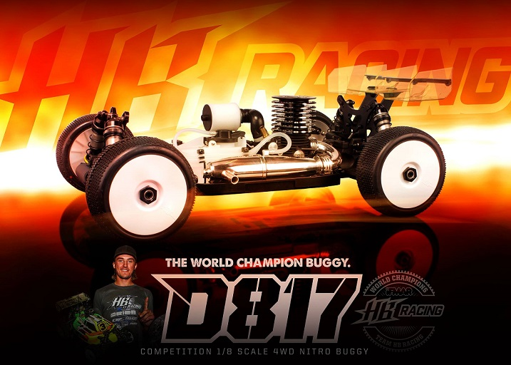 HB204124 Hot Bodies D817 New 1/8 Competition Nitro Buggy D817