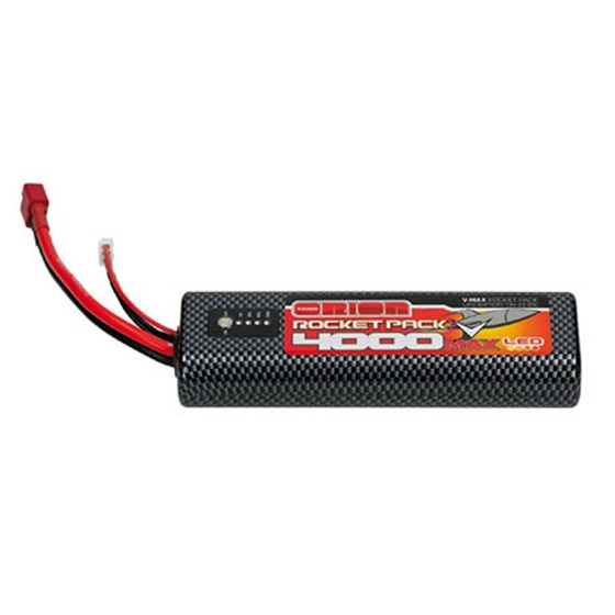 ORI14079 Team Orion Rocket Pack V-Max Lipo 7.4v 4000Mah 55c Battery Deans