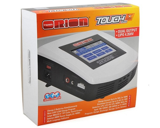 ORI30299 Team Orion Carica Batterie TOUCH DUO V-MAX  AC/DC Charger (6S/10A/100W x2)