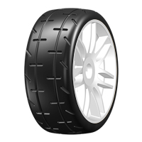 GTH01-S1 GRP Tyres 1:8 GT - T01 REVO - R1 Rain - Mounted on New Spoked White Wheel - 1 Pair