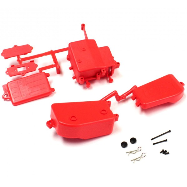 IFF001-KR Kyosho Scatole Portapile Portaricevente Rosso MP9