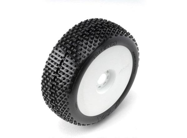 AKA14001VRW AKA Racing Pre-Mounted I-BEAN EVO 1/8 Buggy Tires (Super Soft) (2)
