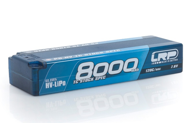 LRP430250 LRP P5-HV TC Stock Spec GRAPHENE 8000mAh Hardcase Battery- 7.6V Lipo - 120C/60C