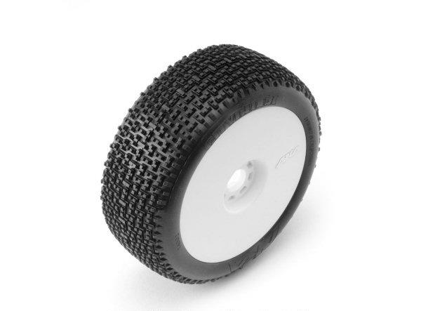 AKA14002VRW AKA Racing Pre-Mounted City Block EVO 1/8 Buggy Tires (Super Soft) (2)