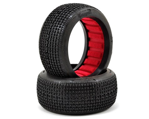 AKA14016 AKA Racing CATAPULT W/ Red Inserts LONG WEAR 1/8 Buggy Tires (Soft) (2)