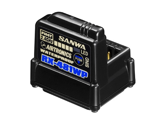 107A41311A Sanwa Ricevente RX-481WP 2.4GHz FHSS4 4 Channel Waterproof Sanwa