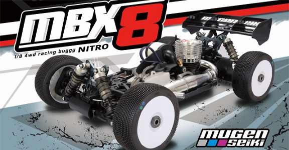MUGE2021 Mugen MBX8 1/8 Off-Road Competition Nitro Buggy Kit