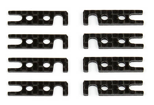 AE31630 Associated  Arm Mount Shims, inner, graphite  TC Series