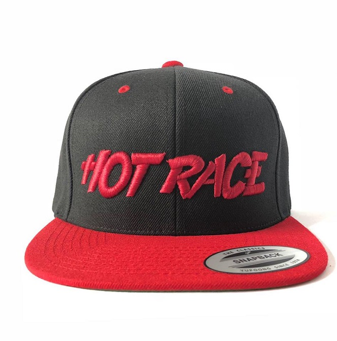 HRCAP-BK Hot Race Cappellino HOT RACE Nero Logo Rosso