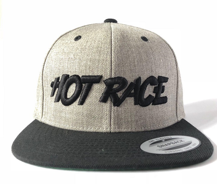 HRCAP-G Hot Race Cappellino HOT RACE Grigio Logo Nero