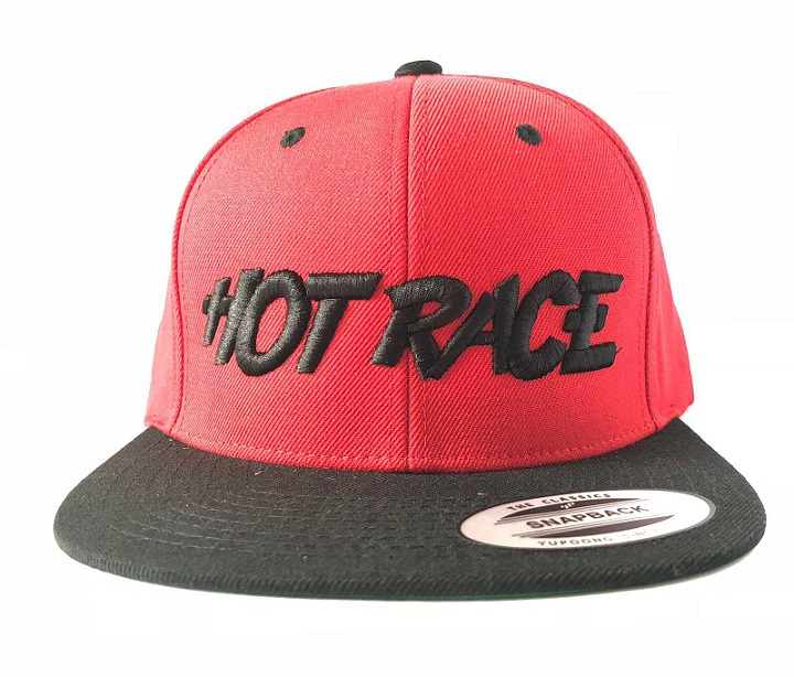 HRCAP-R Hot Race Cappellino HOT RACE Rosso Logo Nero