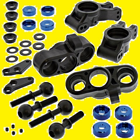 ASSO-K07 Associated Forti Sconti Kit Fuselli Ant./Post. con Sfere ed Accessori RC8B-3.1 RC8B-3.1E