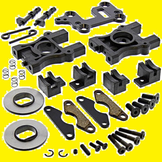 ASSO-K19 Associated Forti Sconti Supporto Diff. Centrale + Kit Freno Completo RC8B-3.1
