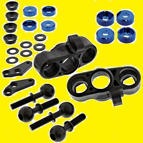ASSO-K07-1 Associated Forti Sconti Kit Fuselli Antetiori con Sfere ed Accessori RC8B-3.1 RC8B-3.1E
