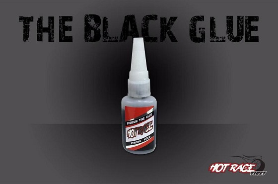 HRGLUE25BK Hot Race Colla BLACK GLUE Ciano x Gomme Flacone 25gr Hot Race
