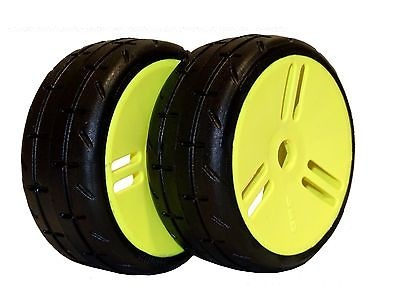 GMY01-S1 GRP TIRES 1:8 GT- M01 REVO S1 Super Soft Glued On New Closed Yellow Wheel (2)