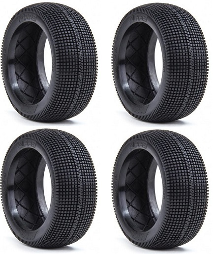 AKA14020XX/T AKA Racing Gomme Buggy 1/8 ZIPPS Long Wear (Soft) (4) BULK