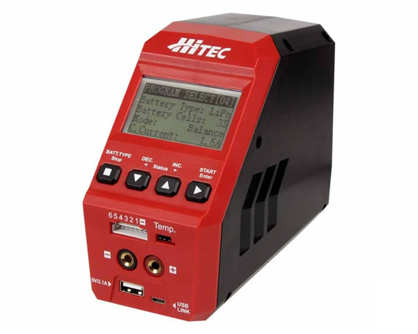 114131 Hitec Caricabatterie Multi Charger X1 Red 60w 12-240v
