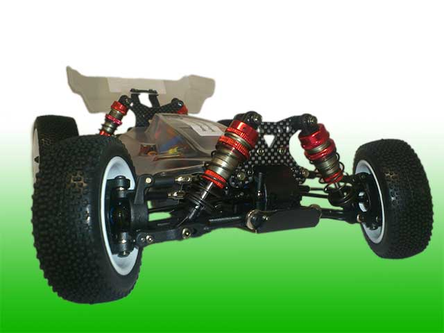 EMB-1HC LC RACING - 1/14 Mini Buggy Carbon Version Off Road  2.4GHz Brushless RTR