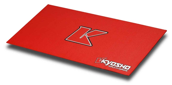 80823 Kyosho Tappeto PIT MAT Big K 2.0 Rosso (61 x 122 mm)