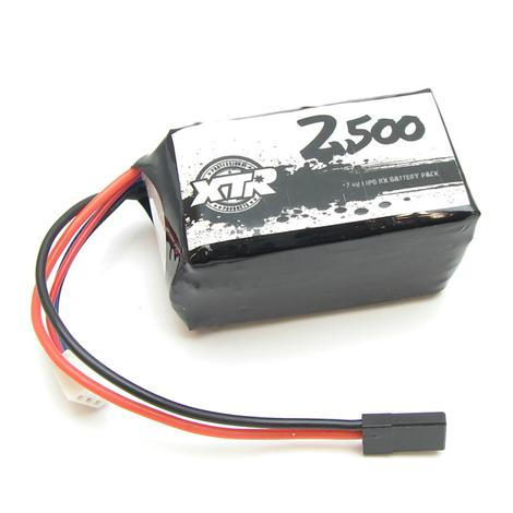 XTR-0211 XTR PRODUCTS BATTERY RECEIVER SQUARE LIPO 7,4 2500 Mah 31X31X55