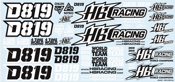 HB204451 Hot Bodies DECALS Hot Bodies D819