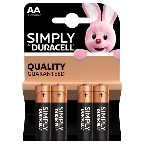 DURSIM Duracell Simply AA 4 Pack Single-use battery Alcalino (4)