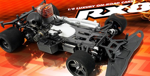 XRA340000 Xray Automodello On Road 1:8 XRAY RX8 Pista 4WD