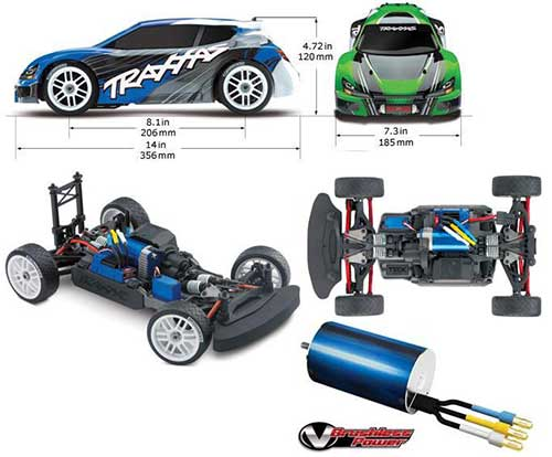 TXX7307 Traxxas Rally 1:16 VXL Brushless