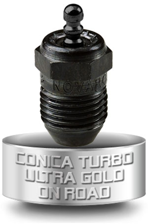 NOVAC5TGF Novarossi Candela Conica Turbo Ultra Gold per motori On-Road/Marino