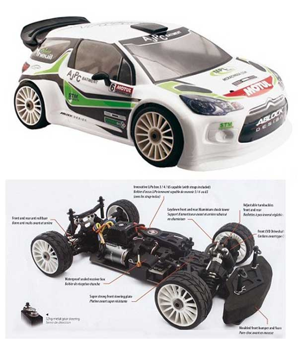 HT.EPX2.DS3.AT HOBBYTECH CITROEN DS3 RTR ALEX THEUIL 1:8 BRUSHLESS