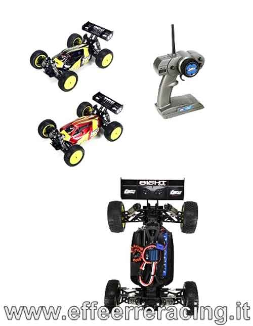 LOSB0224IT2 Team Losi Mini 8ight Buggy 4WD RTR Brushless 1/14