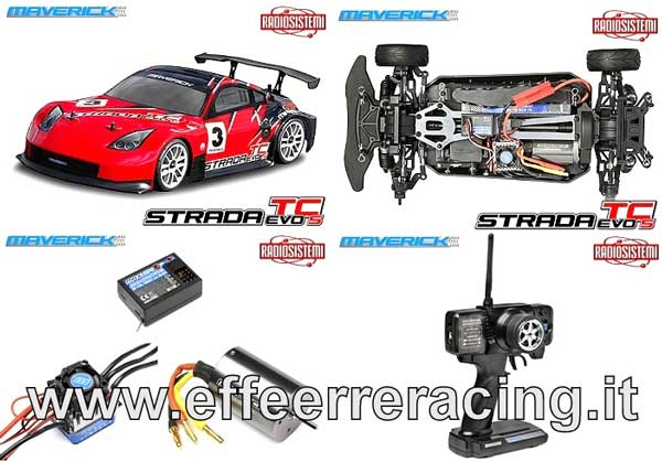 MV12610 Maverick Automodello 1:10 Strada TC Evo S Brushless RTR Touting