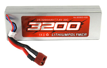 BSD803-028 BSD Racing Batteria Lipo 7.4V 3200mha 20C Hard Case