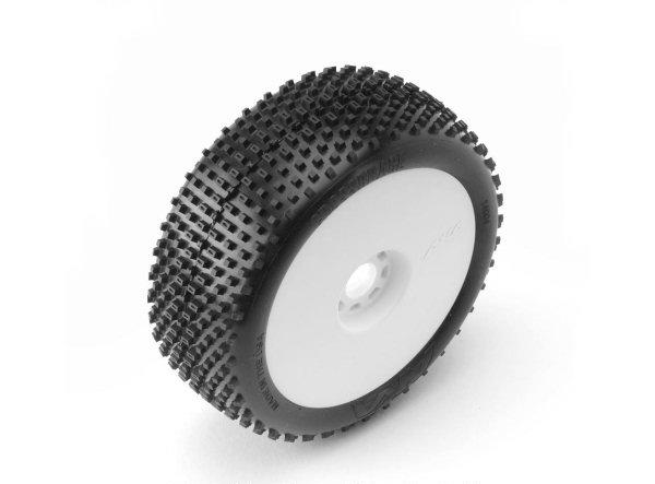 AKA14004SRW AKA Racing Pre-Mounted CROSSBRACE EVO 1/8 Buggy Tires (Soft) (2)