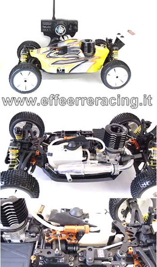 ZX1NEWRTR Caster Racing Nuovo Automodello 1:8 Off Road a Scoppio Radio 3 Ch. 2.4Ghz