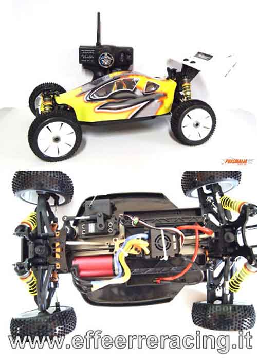 EX1NEWRTR Caster Racing Automodello 1:8 Off Road Brushless LEOPARD 40/68 2220KV ESC 150A Radio 3 Ch. 2.4Ghz